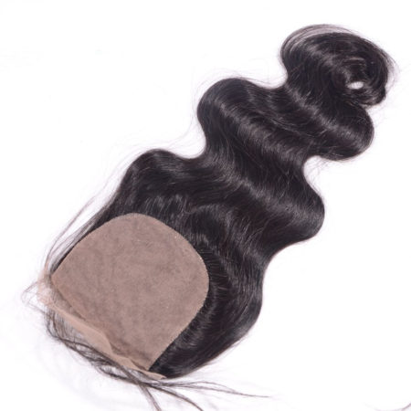 Brazilian Body Wave 5x5 Silk Base Lace Closure With Baby Hair Bleached Knots (1)
