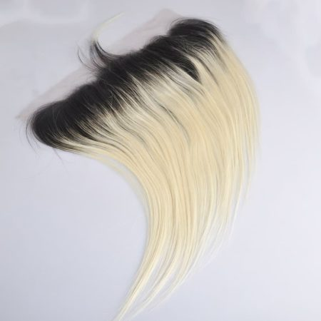 Brazilian Straight Hair Ombre 1b and Blonde Ear to Ear 13x4 Lace Frontal (2)