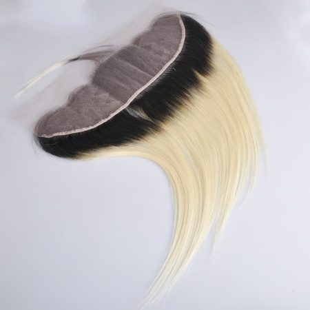 Brazilian Straight Hair Ombre 1b and Blonde Ear to Ear 13x4 Lace Frontal (3)