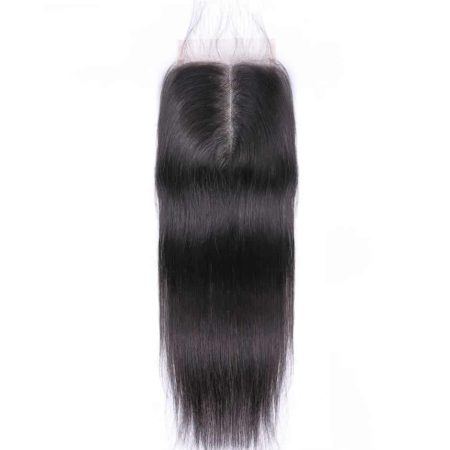 Malaysian Human Straight Hair Middle Part Lace Closure (2)