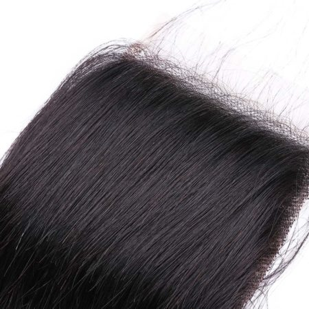 Malaysian Human Straight Hair Middle Part Lace Closure (4)