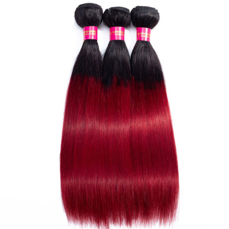 Human Red Ombre Hair Weave Bundles Hair Theme