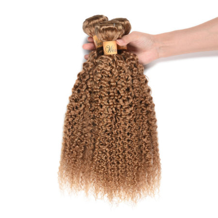 Peruvian Kinky Curly Honey Blonde Color Human Hair 3 Bundles (1)