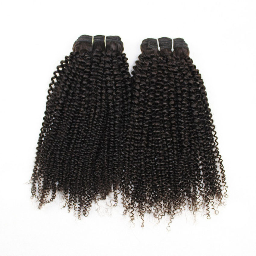 Peruvian Remy Afro Kinky Curly Human Hair Weave Bundles with 4x13 Ear to Ear Lace Frontal (6)