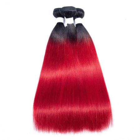 Pre-Colored-Red-Ombre-Brazilian-Human-Hair-Weave-Bundles-3-PCS-T1B-Red (2)