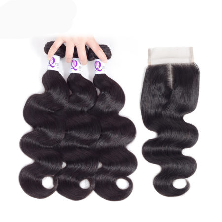 Human Body Wave Peruvian 8a Grade Hair Bundles With Closure (1)