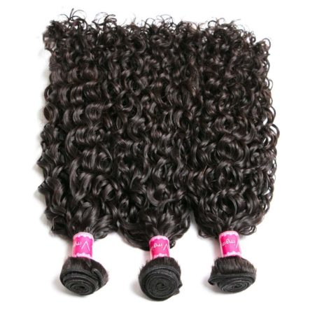 Human Natural Color Brazilian Remy Natural Wave Hair 4 Bundles With 13X4 Closure (6)