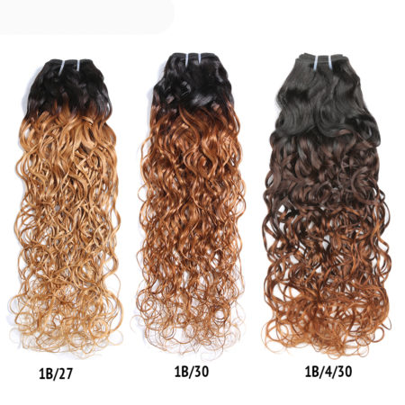 Ombre Peruvian Water Wave Human Hair Bundles 1B30&1B27 Color With 1B430&1B427 Color (3)