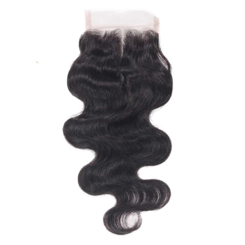 100% Human Remy Brazilian Wavy Closure Hair With Baby Hair (1)