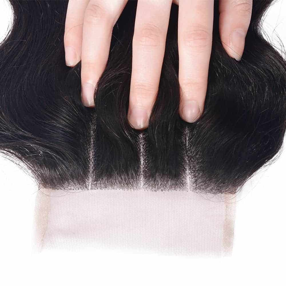 100% Human Remy Brazilian Wavy Closure Hair With Baby Hair (3)
