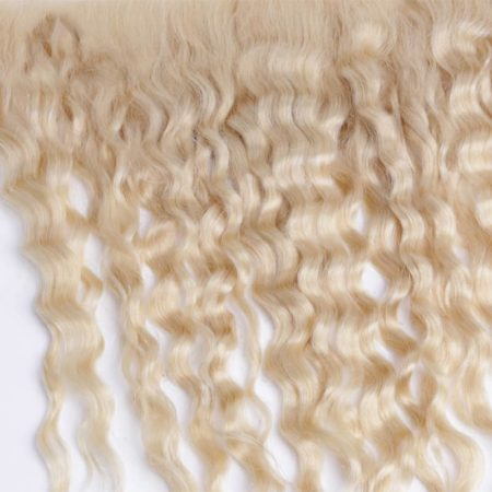 613 Blonde Remy Brazilian 13X4 Deep Wave Frontal Human Hair (1)