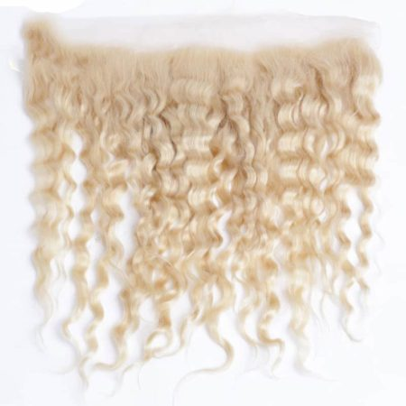 613 Blonde Remy Brazilian 13X4 Deep Wave Frontal Human Hair (2)