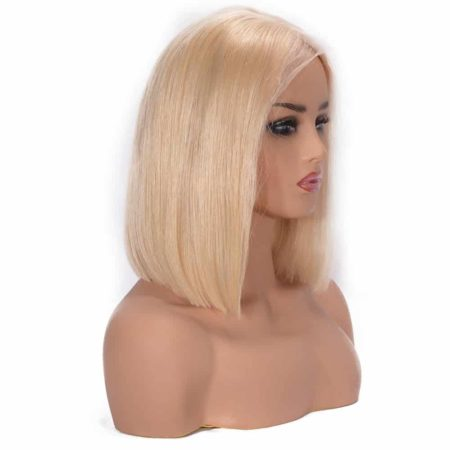 613 Blonde Short Bob Straight Brazilian Lace Wigs 150% Density Hair (4)