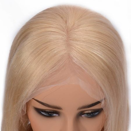 613 Blonde Short Bob Straight Brazilian Lace Wigs 150% Density Hair (5)