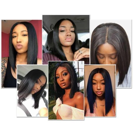 Blonde Lace Front Wig Brazilian 613 Short Bob Hair Wigs For Black Women (4)