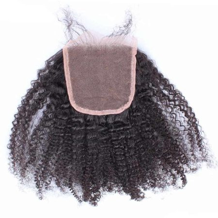 Brazilian Afro Kinky Curly 6x6 Lace Closure Hair Pre Plucked With Baby Hair (3)