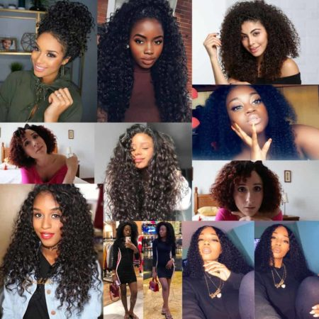 Brazilian Afro Kinky Curly Human Hair Weave 3 and 4 Bundles With Closure (2)