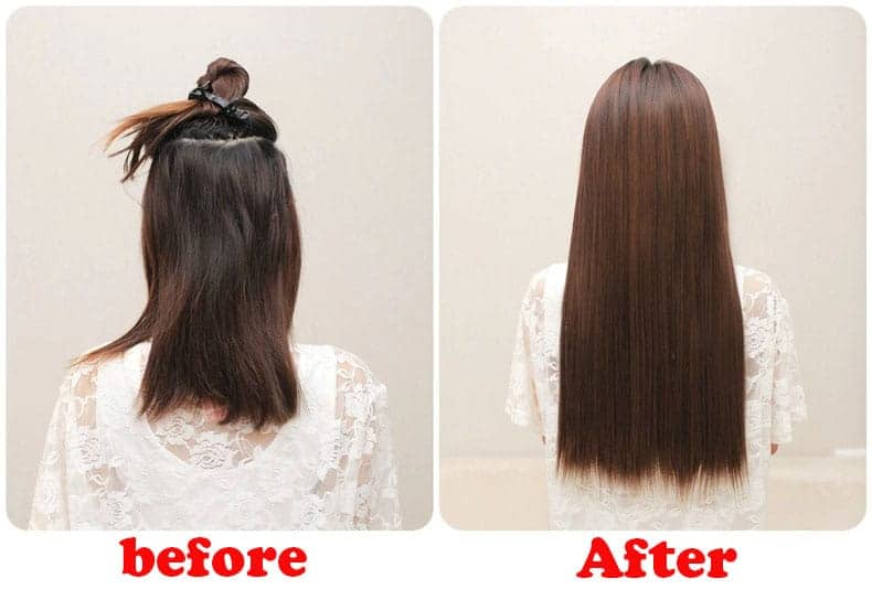 Brazilian Hair before and after