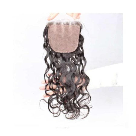 Brazilian Human 4x4 Silk Base Pre Plucked Natural Wave Lace Closures Hair (1)