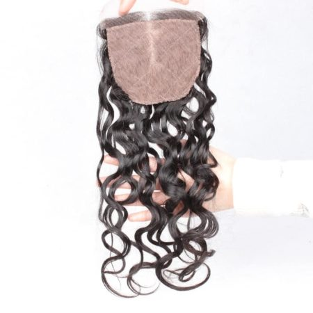 Brazilian Human 4x4 Silk Base Pre Plucked Natural Wave Lace Closures Hair (2)