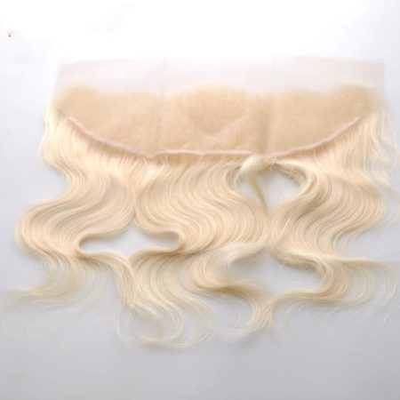 Brazilian Human Hair Body Wave Blonde Color Ear to Ear Lace Frontal (3)