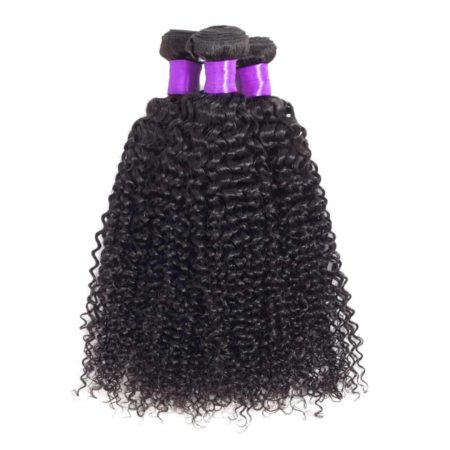Brazilian Kinky Curly 2 Bundles With 360 Frontal Closure With Baby Hair (4)