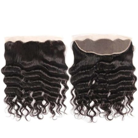 Brazilian Loose Deep Wave Human Hair 4 Bundles With Frontal Closure (1)