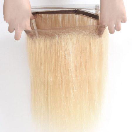 Brazilian Straight #613 blonde Pre Plucked 360 Lace Frontal Hair (5)