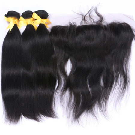 Brazilian Straight Remy Hair 3 or 4 Bundles With 134 Ear To Ear Silk Base Frontal (6)