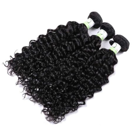 Brazilian Water Wave Hair 3 Bundles With 13x4 Frontal Closure (2)