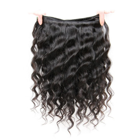 Cambodian Loose Wave 3 Bundles Human Remy Hair With Lace Closure 4X4 Free or Middle Part (4)
