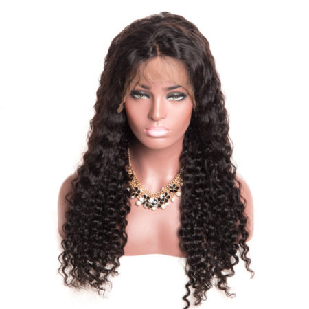 Human Pre Plucked Deep Wave Glueless Lace Front Wig With Baby Hair (5)