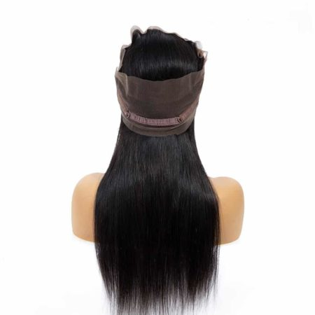 Malaysian Human Straight 360 Lace Frontal Closure Hair Natural Color (1)