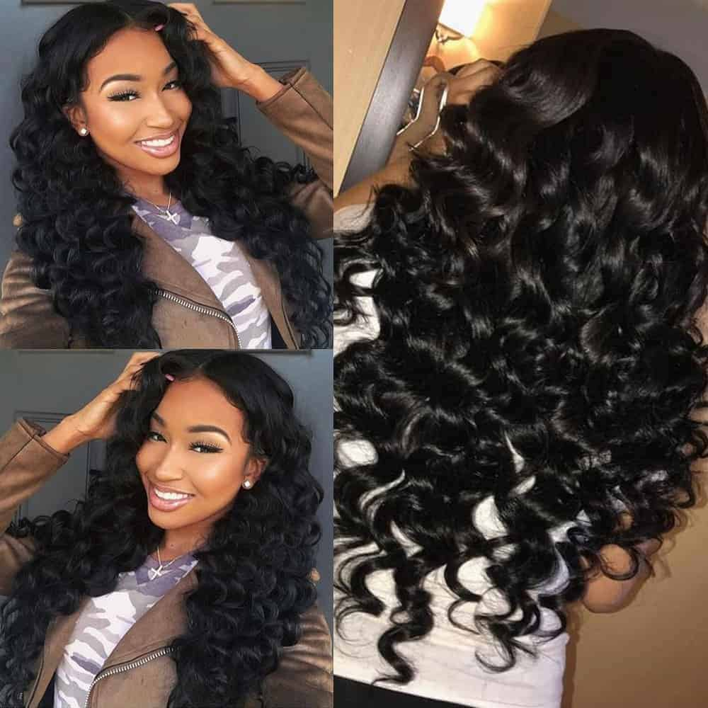 Malaysian Remy Hair Weave Bundles With Closure Loose Deep Wave Human Hair (5)