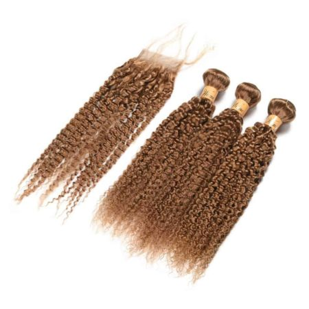 Non-Remy Human Burmese Water Wave Hair Weave 3 Bundles With Closure (2)
