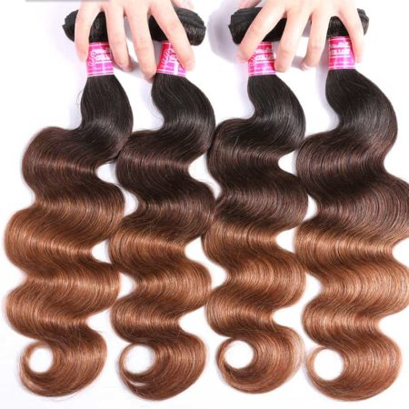 Peruvian Body Wave Ombre T1b or 4 or 30 Hair 4 Bundles With Frontal (2)