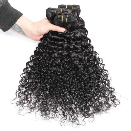 Peruvian Human Water Wave 3 Bundles Hair With 13x4 Frontal Swiss Lace (5)