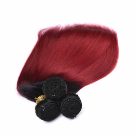 Pre-Colored Ombre Brazilian Straight Human Hair Weave 1B Burg 1 Piece (5)