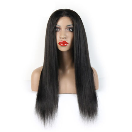Remy 130% Density Silk Top Lace Front Human Wigs With Baby Hair (1)
