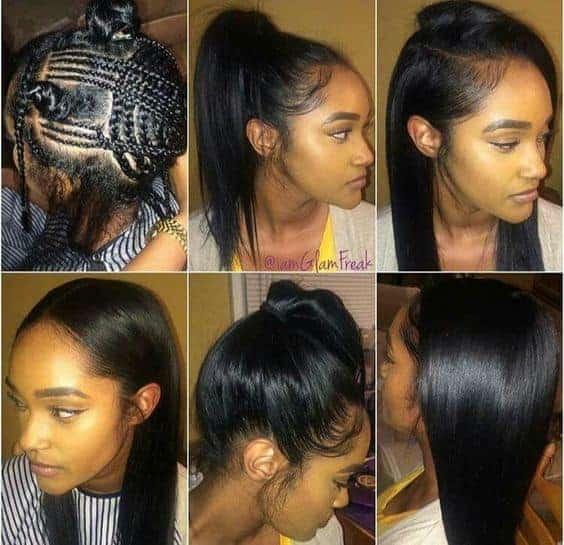 Sew in weave hair extension