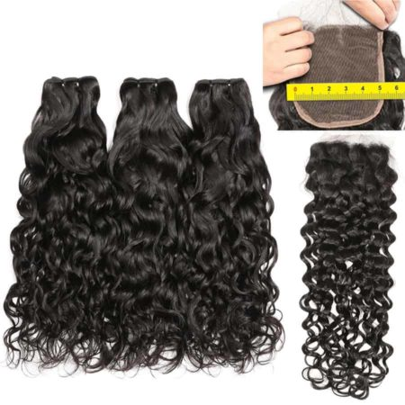 Water-Wave-Bundles-With-Closure-5x5-Lace-Closure-RXY-Brazilian-Human-Hair-Weave-Bundles-With-Closure