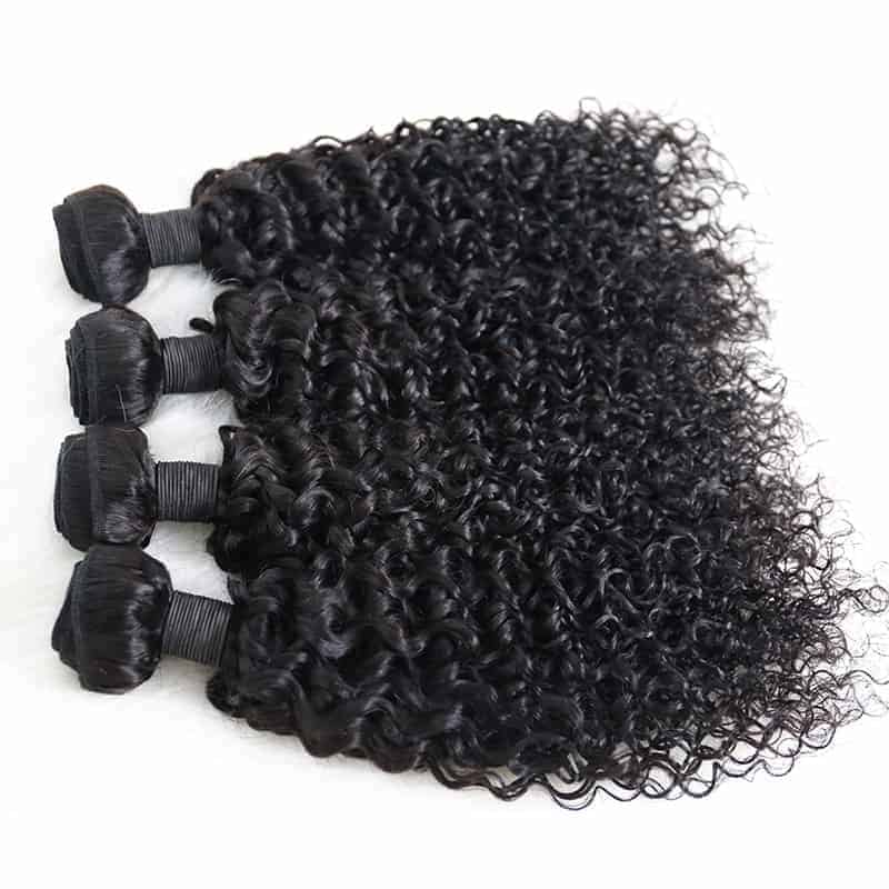 100% Human Brazilian Deep Curly Virgin Hair Weave 3 Bundles (5)