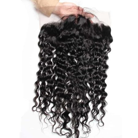 13x4 Lace Frontal Closure Water Wave Human Hair 130% Density Pre Plucked With Baby Hair (3)
