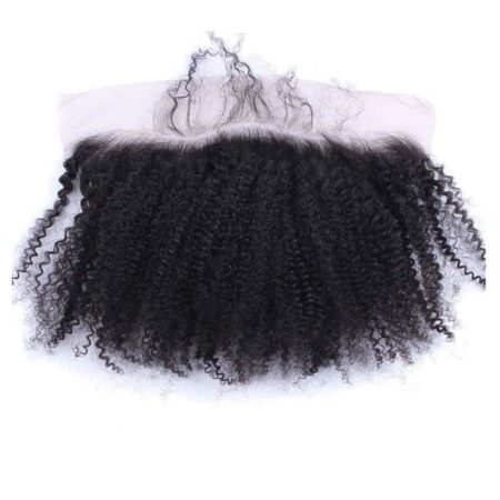 Afro Kinky Curly Brazilian 13x4 Silk Base Lace Frontal Closure (1)