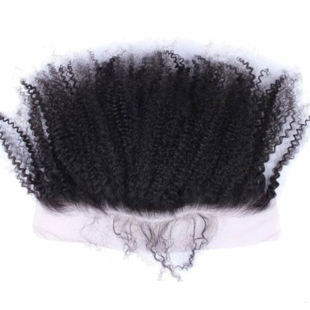Afro Kinky Curly Brazilian 13x4 Silk Base Lace Frontal Closure (2)
