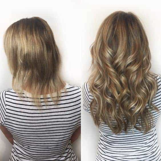 Before and after images hair extensions for thin hair