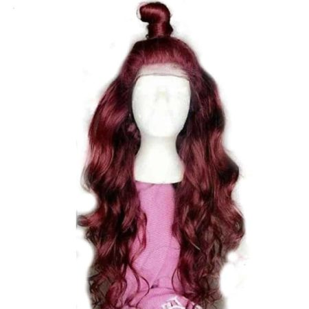 Body Wave 360 Lace Frontal Human Hair Wig Ombre 99j Burgundy Red Wine with Baby Hair Pre Plucked (4)