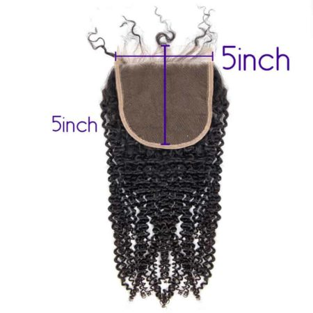 Brazilian 100% Human Kinky Curly 3 Part 5x5 Lace Closures Hair (4)