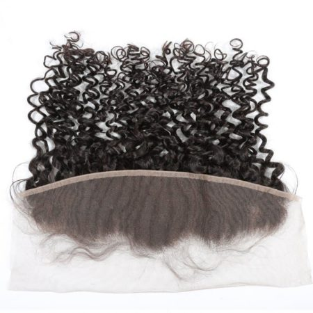 Brazilian 13X4 Free Part Curly Human Hair Swiss Lace Frontal Closure (6)