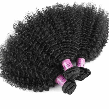 Brazilian Afro Kinky Curly Virgin Human Hair Weave Bundles Natural Color (4)